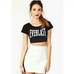Everlast crop black spell out tee